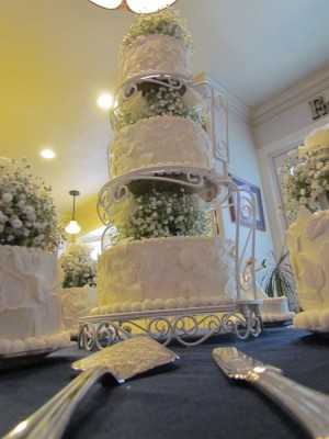 Chery and Dave upward look wedding cake, cakes
